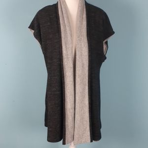 Soft surrounding open front cardigan reversible
